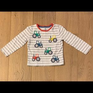 Baby Boden Tractor Long Sleeve Shirt